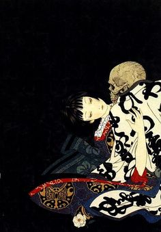 kikikimono:oursoulsaredamned:Takato Yamamoto - Rib of a HermaphroditeI have this art book and it is glorious
