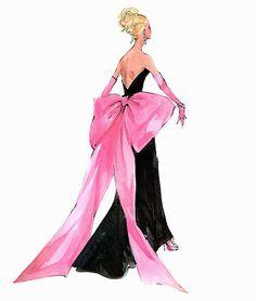 "Barbie Robert Best Print ""Big Pink Bow"""