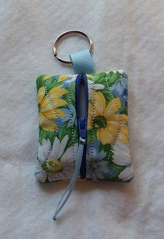 Keychain Zip Purse Coin Purse Small Items by GabbysQuiltsNSupply, $8.25