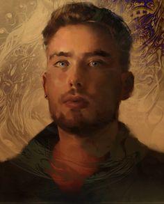 self portait nov 2013 by Miles-Johnston.deviantart.com on @deviantART #face #painting #male