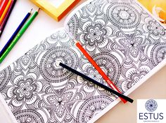 I have used this book for coloring all day and it has been so relaxing! Adult Coloring, Coloring Books, Co Marketing, Mandala Coloring, This Book, Branding, Creative, Fun, Adult Colouring In