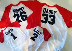 Baseball Birthday Shirts For Family THREE Personalized Shirt