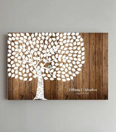 MUST have this guest book! I think it is GORGEOUS & it will look perfect in our house after the wedding!