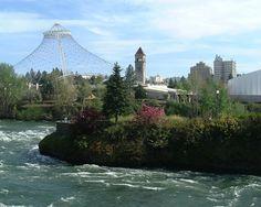 Spokane. River. Downtown