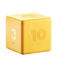 Cubic Timer - Perfect for pre-set times. Flip the cube so the number is on top, and the countdown begins.