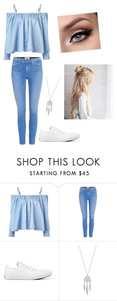 """D/G"" by r-gallogly ❤ liked on Polyvore featuring Sandy Liang, Paige Denim, Converse and Lucky Brand"