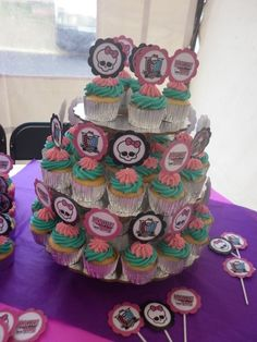 Monster High Party...make cupcakes and print labels ...easy piecy