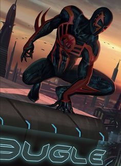 Spider-Man 2099 by Hugo-Puzzuoli Marvel Comics, Comics Anime, Marvel Art, Marvel Heroes, Marvel 2099, Punisher Marvel, Comic Books Art, Comic Art, Spiderman Kunst