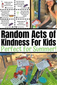 Random acts of kindness for kids perfect for a summer activity for kids. These free printables and dollar store toys will spread kindness this summer when you hide them at your local park. Summer Fun For Kids, Summer Activities For Kids, Fun Activities, Happy Summer, Toddler Activities, Kindness For Kids, Books About Kindness, Kindness Ideas, Kindness Challenge