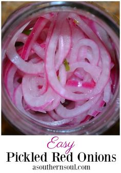 Fast and easy to make red onion pickles instantly transform any dish! With just a few ingredients you can made a fresh topping that will add a zesty punch to anything you serve. #pickles #onions #easyrecipe #recipes #condiments