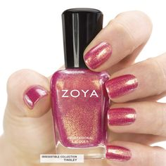 Here's your first look at Zoya #NailPolish in Tinsley - a full-coverage, rose gold foil metallic.