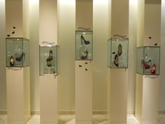 """SAKS FIFTH AVENUE, Chicago,Illinois,USA, """"What to do if your bird flies away....."""", pinned by Ton van der Veer"""