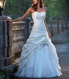 A-line Applique Sequins Sweetheart Wedding Dress