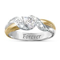 Heaven's Embrace White Topaz Bereavement Ring