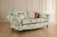 Beautiful Floral Print Sofa & Love Seat | eBay