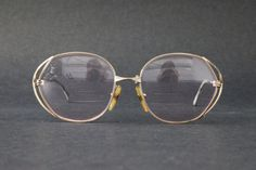 cbf984c67e cherryREVOLVER Vintage CHRISTIAN DIOR CD Womens Rx glasses Gold Over Sized  Frame 80s Made in Germany