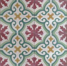 Havana Encaustic Tile, Havana Cement Tile, Havana Patterned tile http://www.encaustic-tiles.co.uk/stock-designs/havana-encaustic-tile-p-171.html