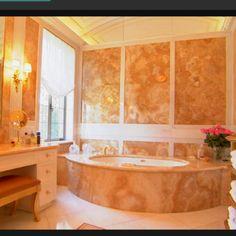 Golden Romantic Bathroom