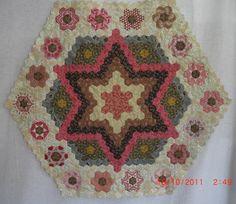 Beautiful hexagons - like the star center.