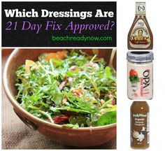 21 Day Fix Salad Dressings