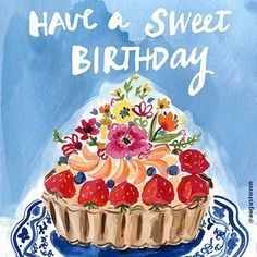 Have a sweet birthday with this delicious looking piece by Jennifer Orkin Lewis. @augustwren⠀ .⠀ .⠀ .⠀ .⠀ .⠀ #surfacedesign#licensing#artistsoninstagram#luckiestagentever #jennifernelsonartists#illustration#pattern#surfacepattern#surfacepatterndesign#illustratorsoninstagram #illustration#artlicensing #lettering #painting #birthday #tart