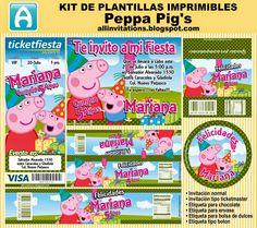 Kit imprimible de plantillas con el tema de Peppa Pig's