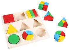 Free Shipping!!Montessori Educational Wooden Toys Geometric Building Blocks Matched Children Toys-inBlocks from Toys & Hobbies on Aliexpress...