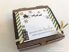 Stampin Up - Pizzaschachtel - Espresso - Weihnachten - X.Mas - Global Design Project 102 - Global Design Project - GDP102 - #102 ♥ StempelnmitLiebe