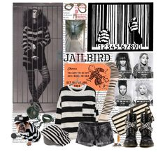 Jailbird DIY costume. STRIPES STRIPES STRIPES! Play handcuffs and you have an outfit.