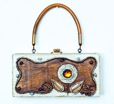 Enid Collins 196668 Papier Mache Box Bag by niwotARTgallery, SOLD