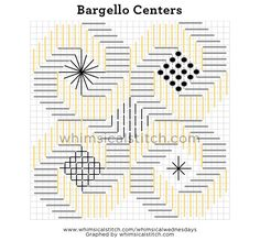 Bargello Circles Centers from November 25 whimsicalstitch.com/whimsicalwednesdays blog post.