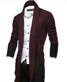 39b6dddc884 Korean Style Men Sweater Jackets Long Sleeve Slim Windbreaker Wool Cardigan  Sweatersuotelab