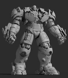 ArtStation - Hulkbuster, liu haifan
