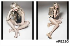 Anne Vyalitsyna Rocks Shoe Styles for Arezzo's Summer 2013 Campaign by Gui Paganini