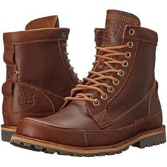 Timberland Earthkeepers Rugged Original Leather 6 Boot (Tobacco Forty... ($128) ❤ liked on Polyvore featuring men's fashion, men's shoes, men's boots, brown, mens platform boots, mens brown leather boots, mens breathable shoes, mens brown boots and mens brown leather shoes