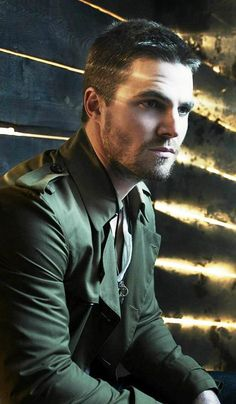 Stephen Amell, Oliver Queen from Arrow. Not only nice to look at, but an amazing human being.