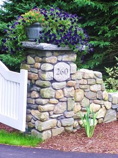 driveway entrance...do this with hand stacked stone?