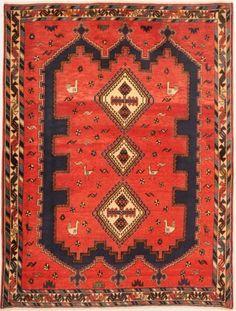 Bakhtyari Woven: Hand Knotted Size: 4'9″ x 6'2″