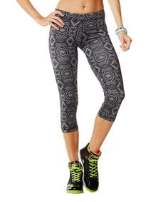 Love this Have A Nice Gray Aztec Capri Pants by Zumba® on #zulily! #zulilyfinds