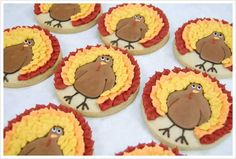 Turkey Cookies - Thanksgiving is still a ways off (except at Hobby Lobby - ha!) but these are super cute!