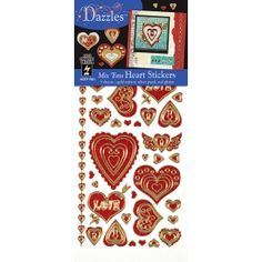 Dazzles™ Mixems Outline Sticker Pack Hearts: Red/Pink, x Flat, (model price per set Arts And Crafts Supplies, Art Supplies, Valentine Day Crafts, Valentines, Easel, Red And Pink, Cool Art, Stickers, Drawings