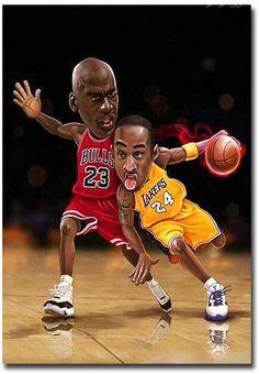 999ba2ed95b  4.5 - Kobe Bryant Vs Michael Jordan Print Art Fridge Magnet Size 2.5