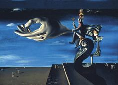 Salvador Dalí - La Main (Les Remords de conscience), 1930, Oil and collage on canvas