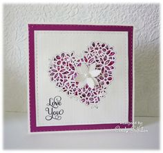 Sequin Heart by frenziedstamper - Cards and Paper Crafts at Splitcoaststampers