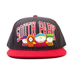 South Park Characters Snapback Baseball Cap Black Red BA180096STH 5f42bf02644