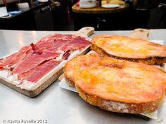 A board of Jamón ibérico de bellota (acorn-fed Iberian ham) de Guijuelo