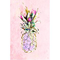Jessica Russell Flint - The Pineapple Cliche Print (2 035 ZAR) ❤ liked on Polyvore featuring home, home decor, wall art, paper wall art, unframed wall art and pineapple home decor