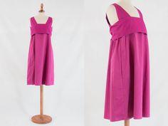 Max mara vintage dress, S max mara 90s, 1990s vintage dress, pink fuchsia dress, sleeveless dress, tunic dress, max mara 1990's by MyLoftVintage on Etsy