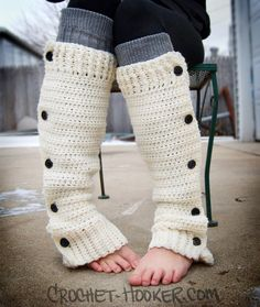 Cute #crochet leg warmers. Would look adorable over high heels!