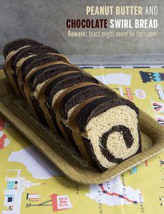 Chocolate Peanut Butter Swirl Bread // take a megabite
